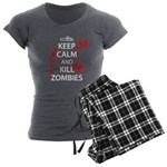 Keep Calm Women's Charcoal Pajamas