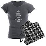 Keep Calm Belay is On Women's Charcoal Pajamas