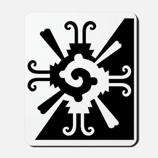 Mayan Design-BW Mousepad
