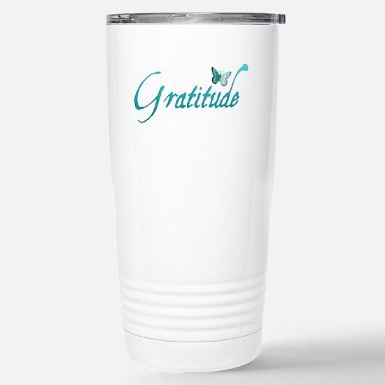 Gratitude Stainless Steel Travel Mug