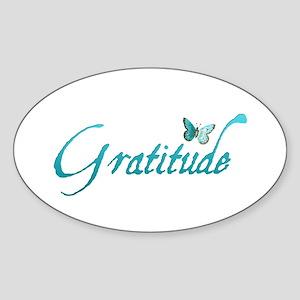 Gratitude Oval Sticker