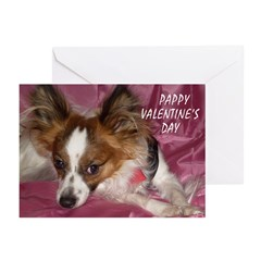PAPILLON PAPPY V-DAY Greeting Cards (Pk of 20)