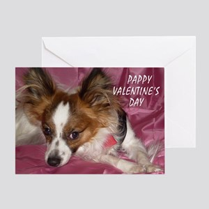 PAPILLON PAPPY V-DAY Greeting Card
