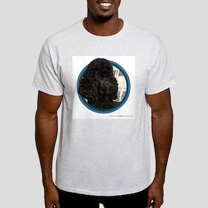 Poodle Art Ash Grey T-Shirt