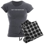 Got Your Boots On Women's Charcoal Pajamas