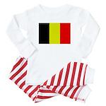 Large Belgian Flag Baby Pajamas