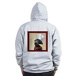 Black Labrador Chef Zip Hoodie