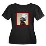 Black Labrador Chef Women's Plus Scoop Dark Tee