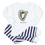Irish Harp and Shamrock Baby Pajamas