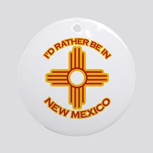 I'd Rather Be In New Mexico Ornament (Round)