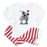 BULLDOG SMILES Baby Pajamas