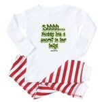 Secret in moms belly Baby Pajamas