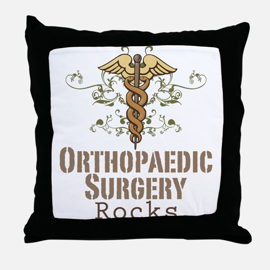Orthopaedic Surgery Rocks Throw Pillow