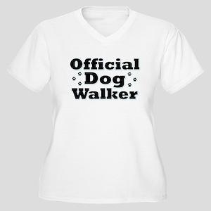 Official Dog Walker Women's Plus Size V-Neck T-Shi