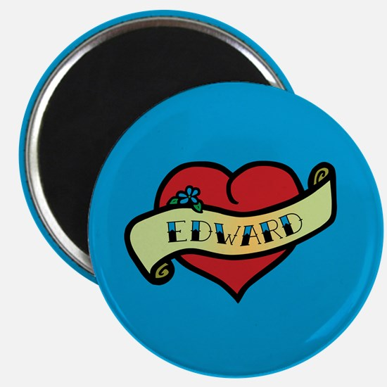 Edward Heart Tattoo Magnet