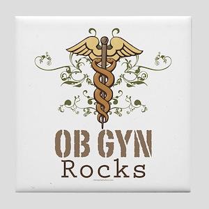 OB GYN Rocks Tile Coaster