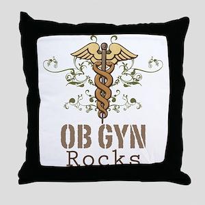 OB GYN Rocks Throw Pillow