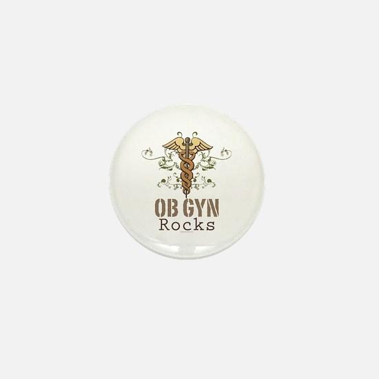 OB GYN Rocks Mini Button