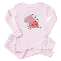 Cane Corso Pink Baby Pajamas