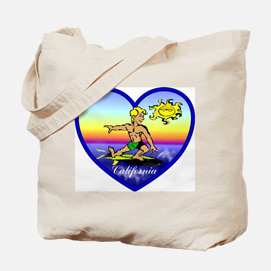 Love California Surf  Tote Bag