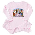 Corgi Tea Party Baby Pajamas