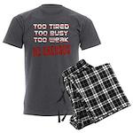 No Excuses Men's Charcoal Pajamas