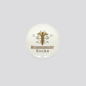 Neurosurgery Rocks Mini Button
