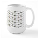 168 Unlabeled Resistors Large Mug