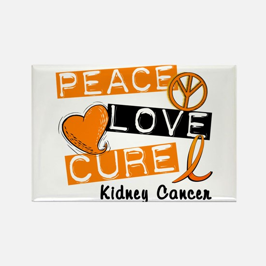 PEACE LOVE CURE Kidney Cancer (L1) Rectangle Magne