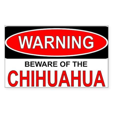Beware Chi Rectangle Sticker