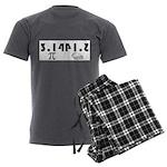 Pi Pie Men's Charcoal Pajamas
