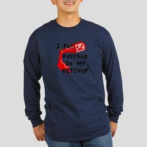 Ketchup Lovers Long Sleeve Dark T-Shirt