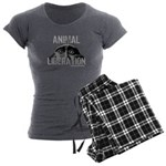 Animal Liberation 6 - Women's Charcoal Pajamas