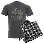 Gone Squatchin Men's Charcoal Pajamas