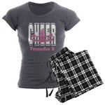 Personalized Cheer Design Women's Charcoal Pajamas