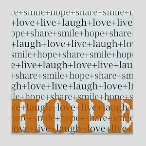 HOPE Inspirational Collage (orange) Tile Coaster