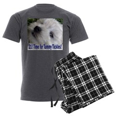 21st Birthday Gifts, Westie T Men's Charcoal Pajam