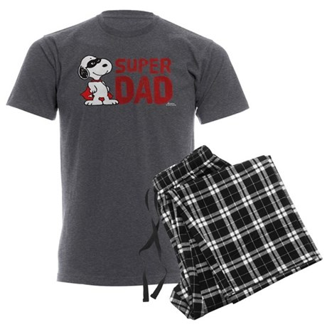 Peanuts: Super Dad Men's Charcoal Pajamas