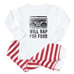 Will Rap For Food- Retro baby Baby Pajamas