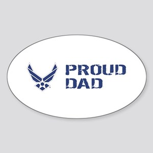 USAF: Proud Dad Sticker (Oval)