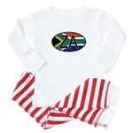 South Africa Colors Oval Baby Pajamas