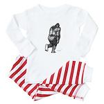 2-PattyRearSketch Baby Pajamas
