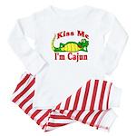 Kiss Me I am Cajun  Baby Pajamas