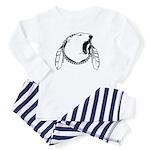 Tribal Bear Art Infant Baby Baby Pajamas