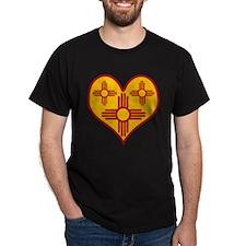 New Mexico Zia Heart Dark T-Shirt