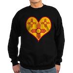 New Mexico Zia Heart Sweatshirt (dark)