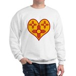 New Mexico Zia Heart Sweatshirt
