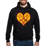 New Mexico Zia Heart Hoodie (dark)