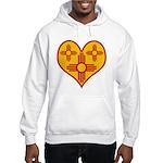New Mexico Zia Heart Hooded Sweatshirt