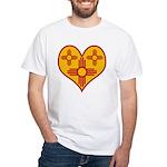 New Mexico Zia Heart White T-Shirt
